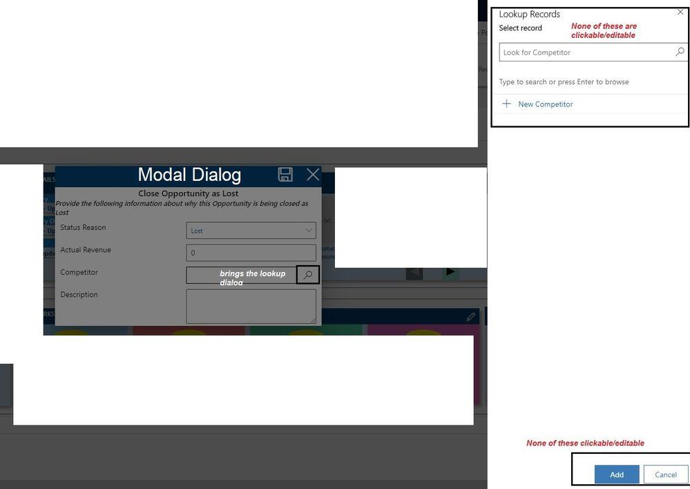 Lookup Dialog on Fluent UI Modal