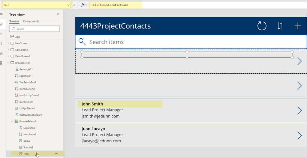 PowerApps Form w/Contractor Info