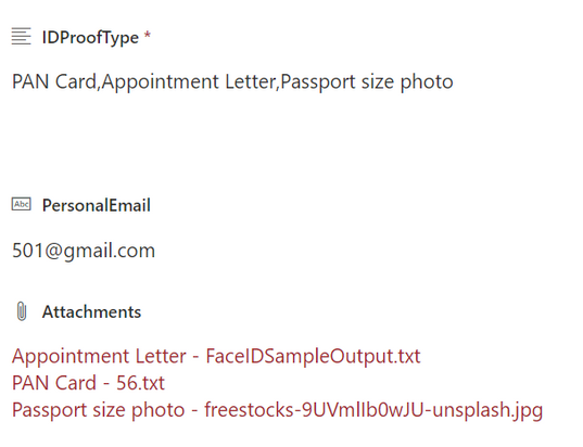 Under the attachments u can see there are 3 files. i want to show only tat passport image in power apps.