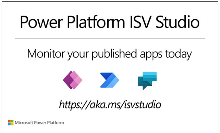 Power Platform ISV Studio