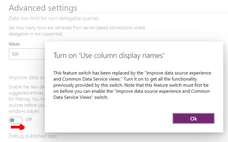 Kudos App - Missing DB Icon Settings - Col Displays.PNG