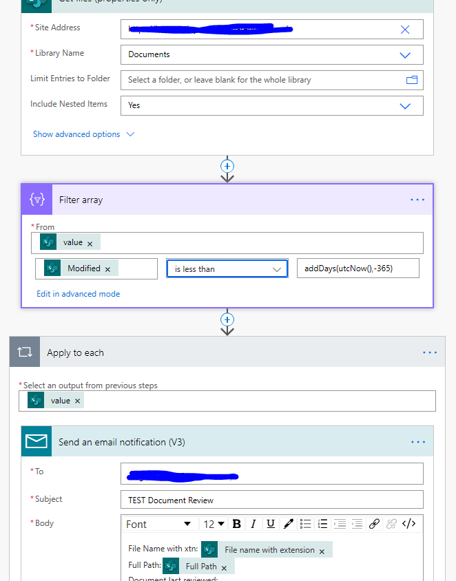 Document review sharepoint list