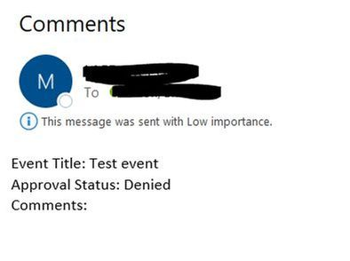 Email as a result of limited view
