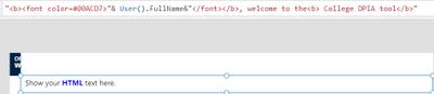 HTML text
