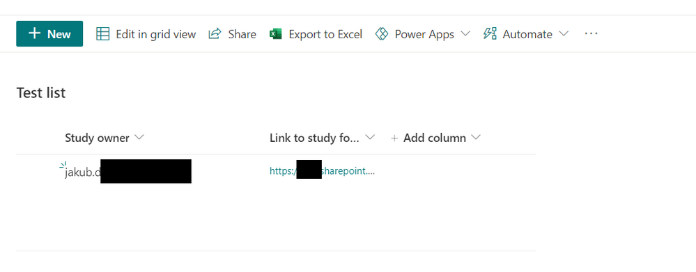SharePoint List with link to created folder