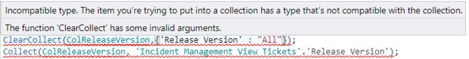 collection code not working