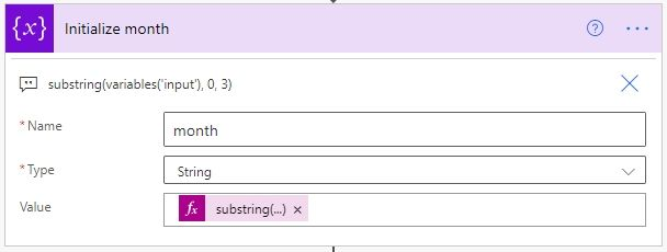 substring(variables('input'), 0, 3)