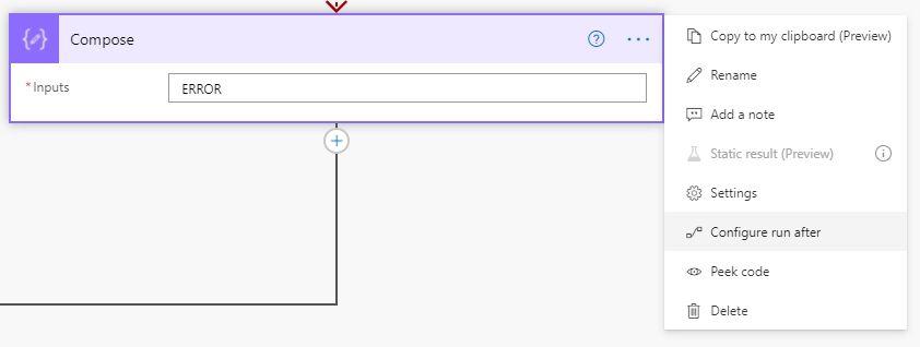 Select 'Configure run after'