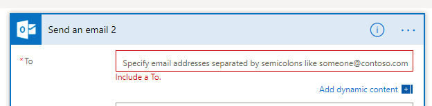 Here I want to add the email address from the powerapps