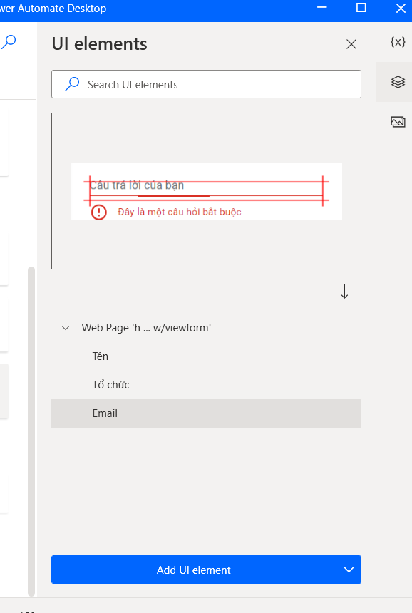 Already captured the Email's UI Elements