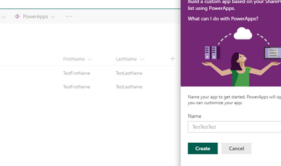 Name PowerApps thing