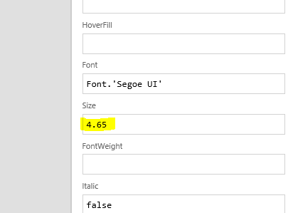 Font size change to be REALLY small!
