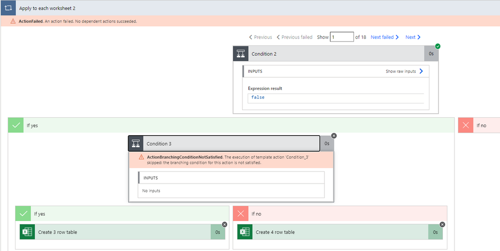 First iteration: No inputs error