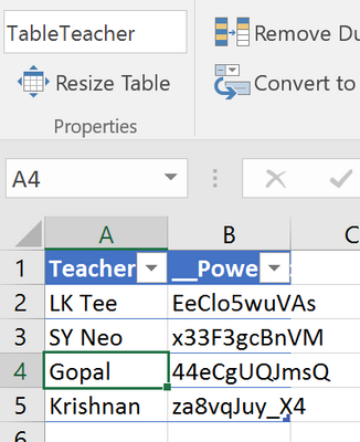 Used for Dropdown Teacher