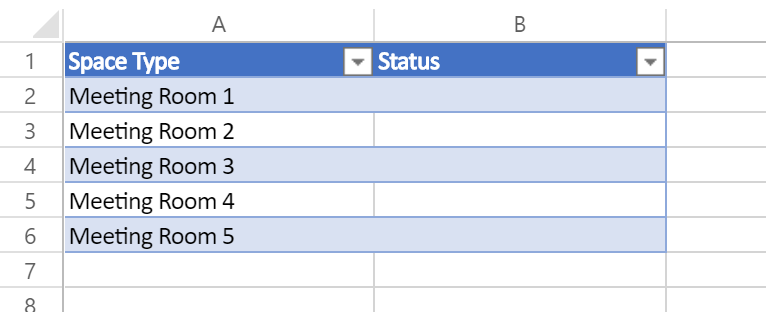 Data Source - a table in Excel Online (in OneDrive for Business)