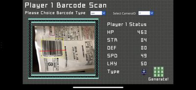 Player 1  Generate Screen