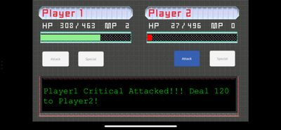 Player 1 Attack (Critical Attack)