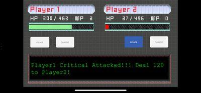 Player 1 Attack (Critical Attack)