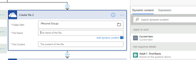Used Dynamic Data for FileName