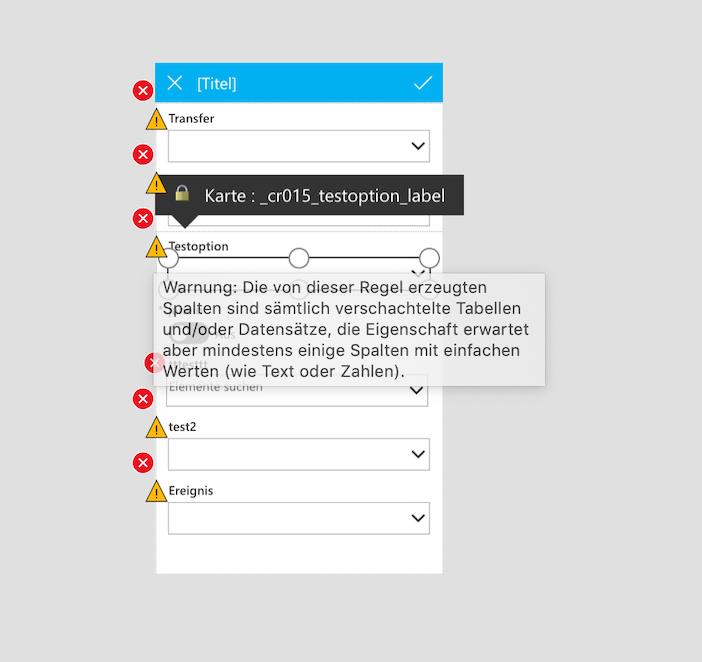 German warning message of DataCard. Translation is very weird