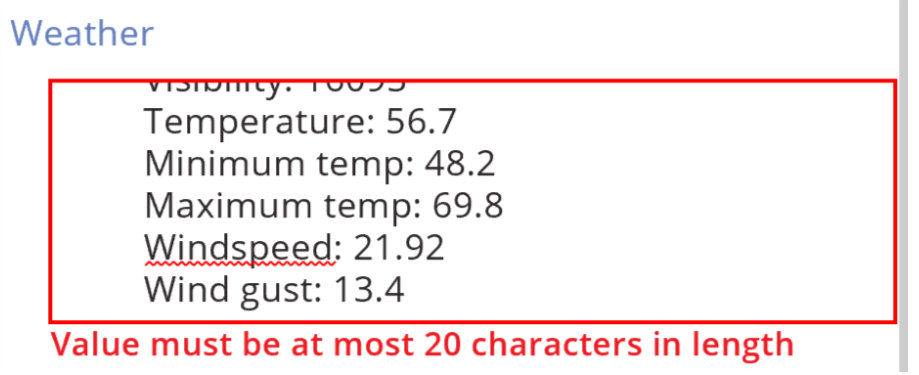 multiline limit of 20 characters?