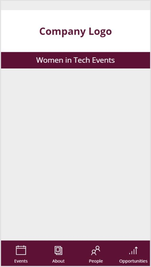 Network Events Home Screen