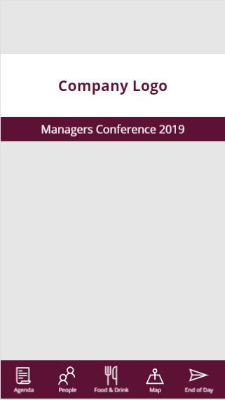 Managers Conference Home Screen