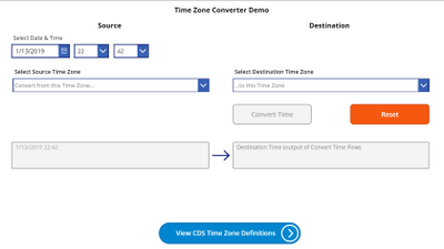 Time Zone Convert Demo app