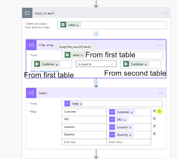 Add filter to tables