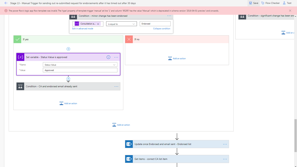 The Power Flows logic app flow template was invalid message.png