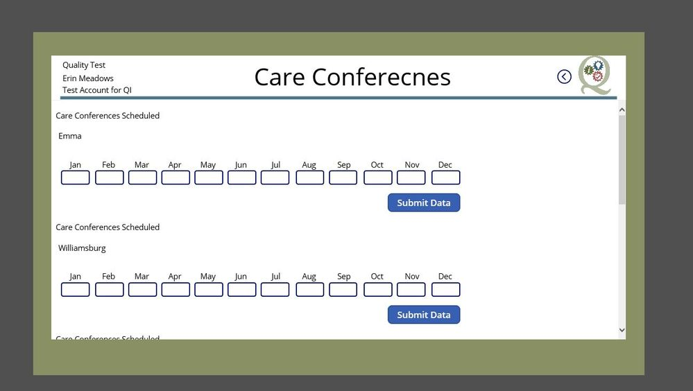 Care conferences Schedule screen.JPG
