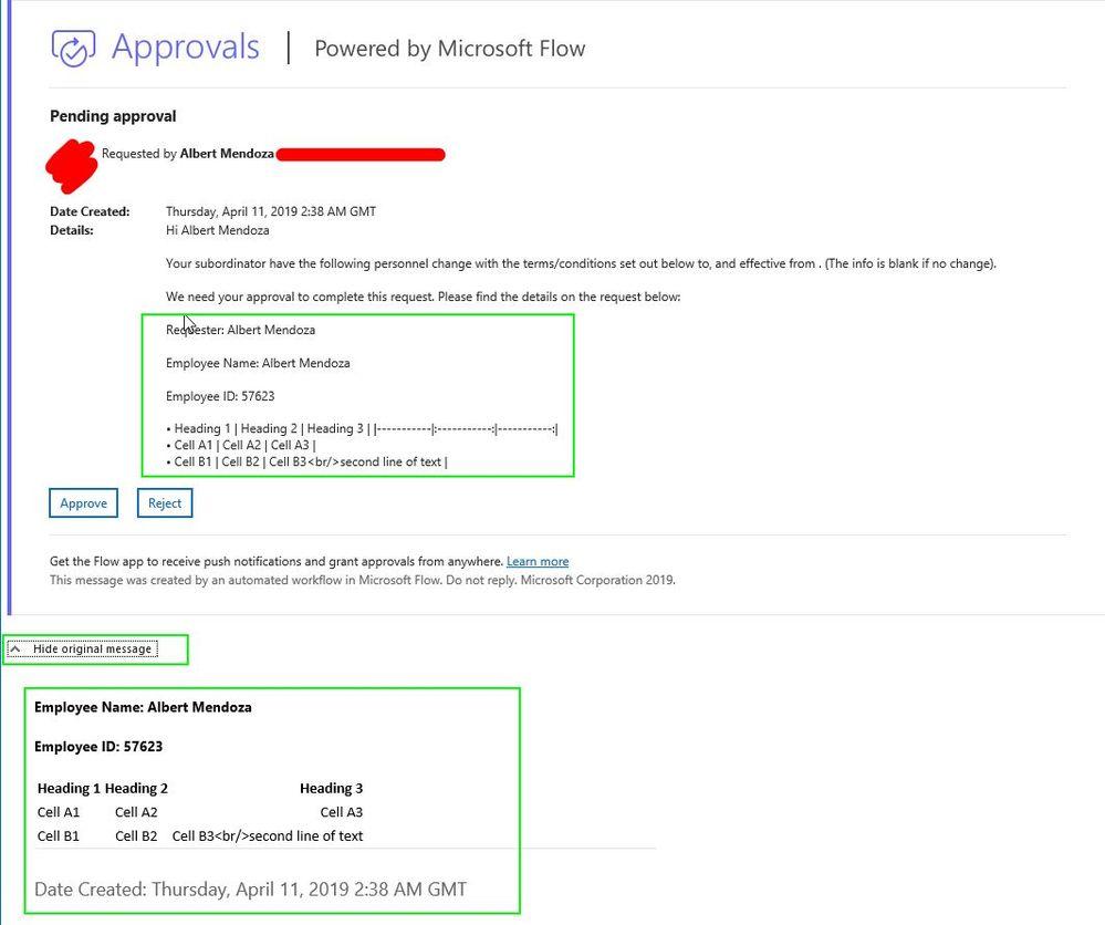 Outlook client Show Original Message