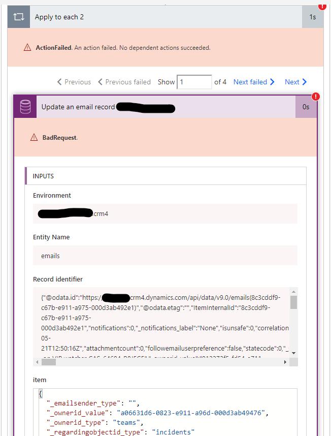 Details of Bad Request error