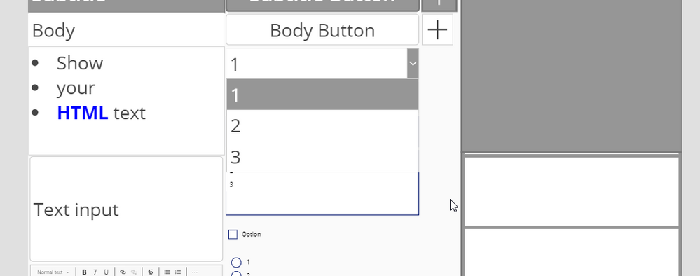 Drop down in PowerApps Studio