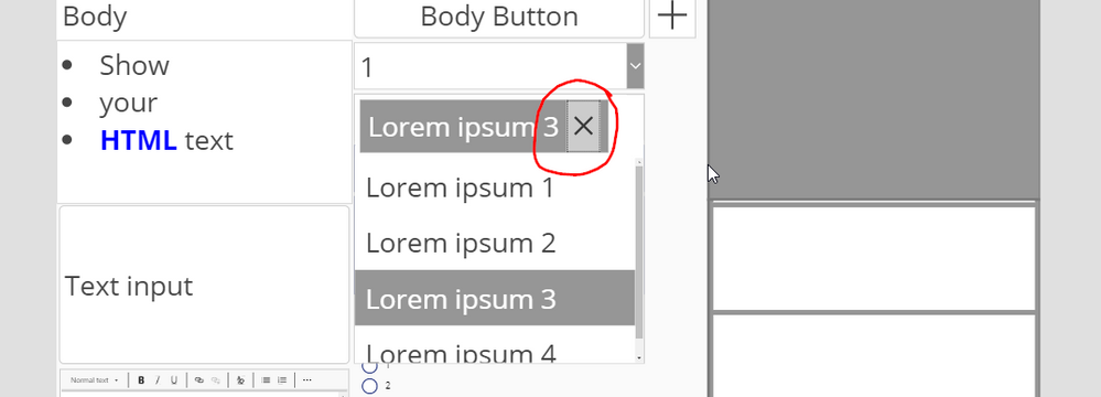 Combo box in PowerApps Studio