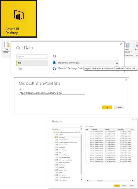 PowerBI Connect to SharePoint