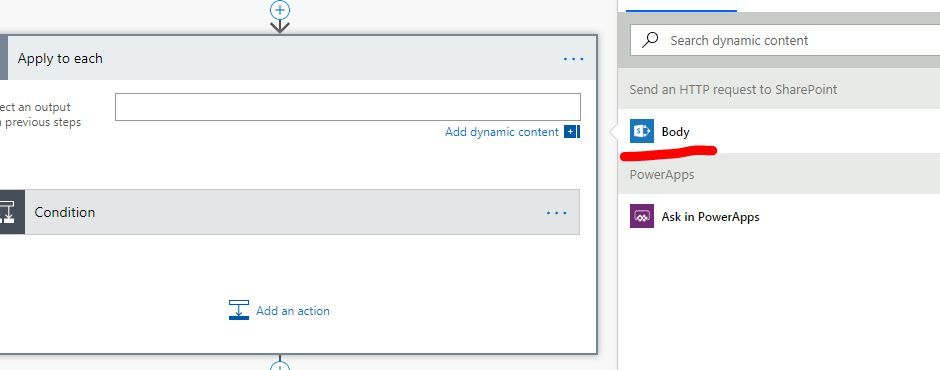 no value but body from send an HTTP request to Sharepoint.JPG