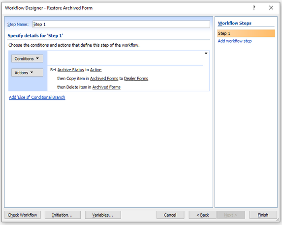 This is the current workflow in SharePoint Designer