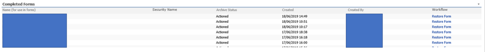 This is the current list view where the workflow can be manually triggered from the 'Workflow' column
