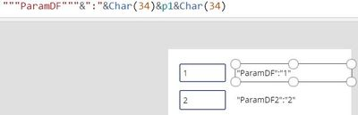 Using triple quotes and Char(34) to make sure parameter is formatted as a STRING (only way it will work)