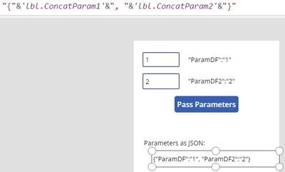 Concatenating contents of labels above into JSON format.