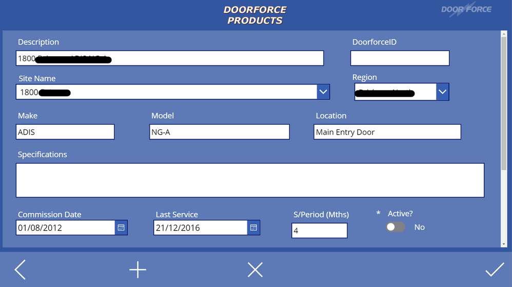 Selections have been made in both dropdown boxes, and ready to SubmitForm, and send changes to SQL table.