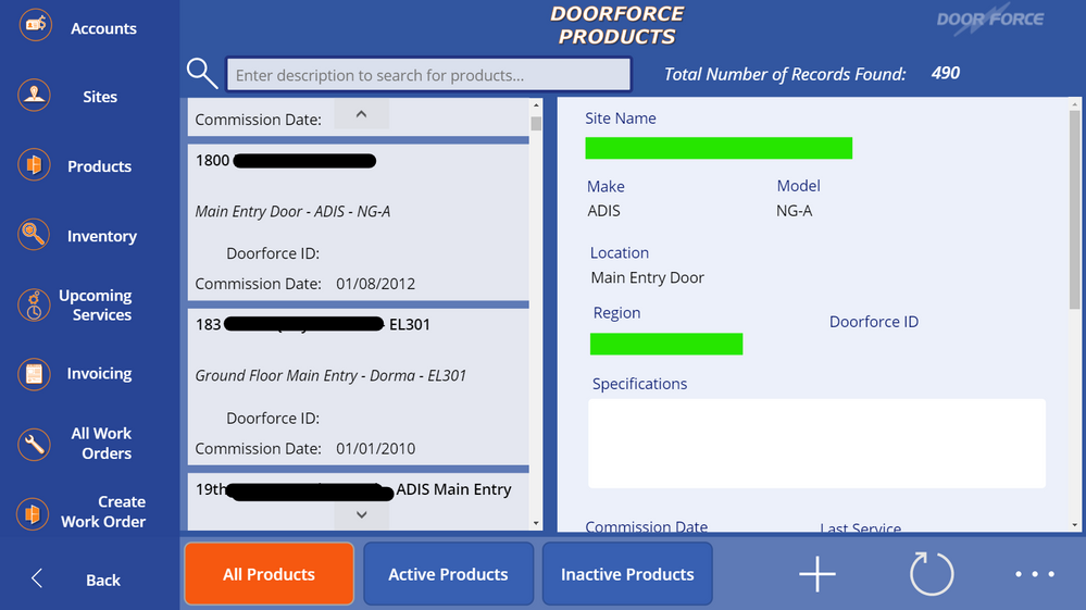 Navigating back to List view, OnVisible property now forces a Refresh of dbo.'InstalledProducts' table, as well as a Refresh button is available. Still no changes displayed for those two fields. Sometimes it takes 10 - 20 mins for it to pop up, sometimes a logout is required before it appears