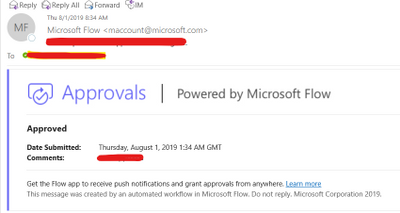 Approval Email from Microsoft