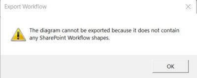 Error when Export Button is clicked