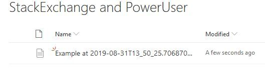 I ran the PowerApps, selected some products, and clicked submit. Shortly after, this document has been created in the site library.