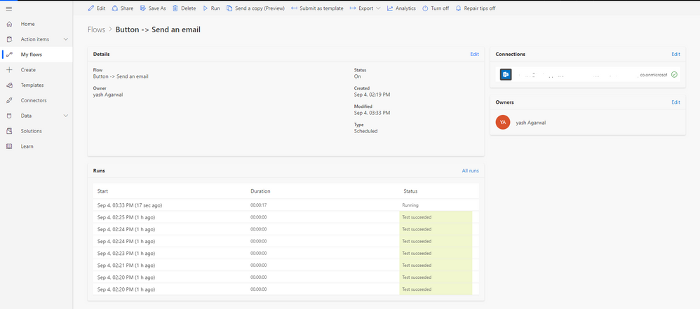 Solved: SharePoint list column to see the status of a flow