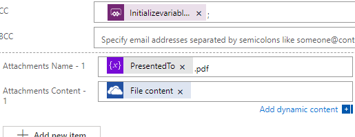 Attach file to email with the created file contents