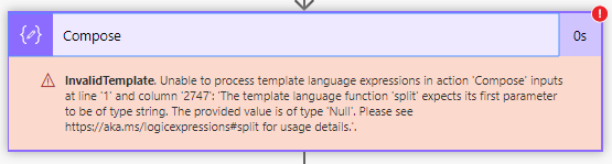 null parameter value error