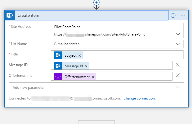 I save the email message along with the invoice number into a SharePoint list
